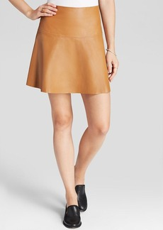 MILLY Skirt - Emmy Lightweight Leather Flare