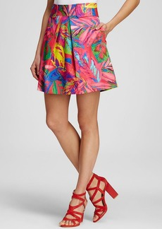 Milly Skirt - Feathers Multi Print