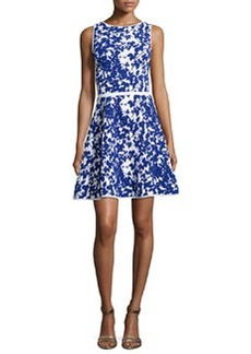 Milly Sleeveless Floral-Print Flare Dress