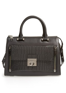 Milly 'Small Sienna' Croc Embossed Two-in-One Tote