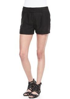 Milly Stella Cuffed Linen-Blend Shorts