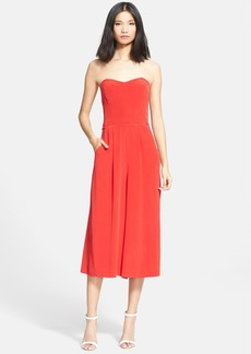 Milly Strapless Silk Culotte Jumpsuit