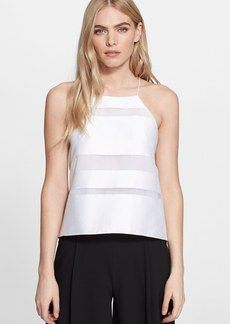 Milly Stripe Fil Coupe Halter Trapeze Camisole