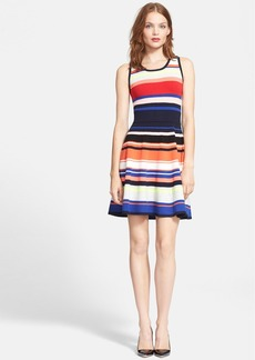 Milly Stripe Fit & Flare Dress