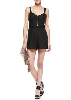 Milly Sweetheart-Neck Jumpsuit, Black