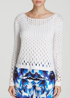 MILLY Top - Grading Perforated Pullover