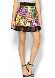 Milly Tropical Circle Mesh Skirt