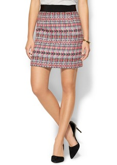 Milly Tweed Zip Skirt