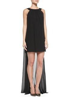 Milly Vivienne Sleeveless Draped-Back Cocktail Dress