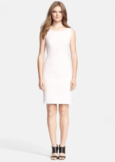 Milly Zip Crepe Sheath Dress