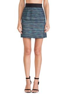 MILLY Zip Skirt