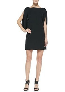 Monarch Silk Slit-Sleeve Dress   Monarch Silk Slit-Sleeve Dress