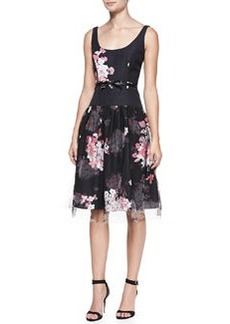 Natalie Floral-Print Sleeveless Cocktail Dress   Natalie Floral-Print Sleeveless Cocktail Dress