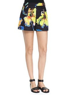 Pop Art Pleated Shorts   Pop Art Pleated Shorts