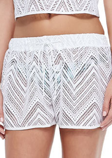 Pull-On Crochet Coverup Shorts   Pull-On Crochet Coverup Shorts