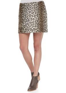 Pull-On Leopard Miniskirt   Pull-On Leopard Miniskirt