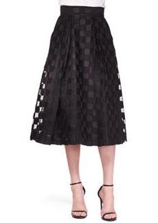 Sheer-Block Full Midi Skirt   Sheer-Block Full Midi Skirt