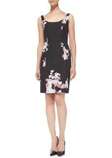 Sophia Floral-Print Sheath Dress   Sophia Floral-Print Sheath Dress