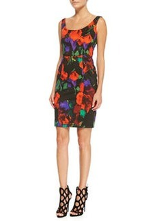 Sophia Floral-Print Sleeveless Sheath Dress   Sophia Floral-Print Sleeveless Sheath Dress