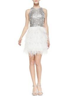 Sophia Sequin & Feather Sleeveless Dress   Sophia Sequin & Feather Sleeveless Dress