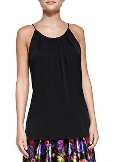Stretch-Silk Pleated Tank Top   Stretch-Silk Pleated Tank Top