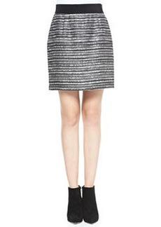Striped Back-Zip Bell Skirt   Striped Back-Zip Bell Skirt