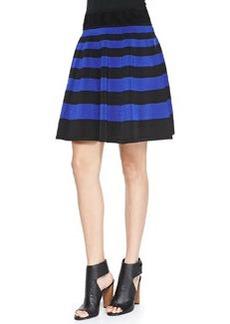 Striped Flare Skirt, Black/Cobalt   Striped Flare Skirt, Black/Cobalt
