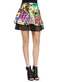 Tropical Mesh Circle Flounce Skirt   Tropical Mesh Circle Flounce Skirt