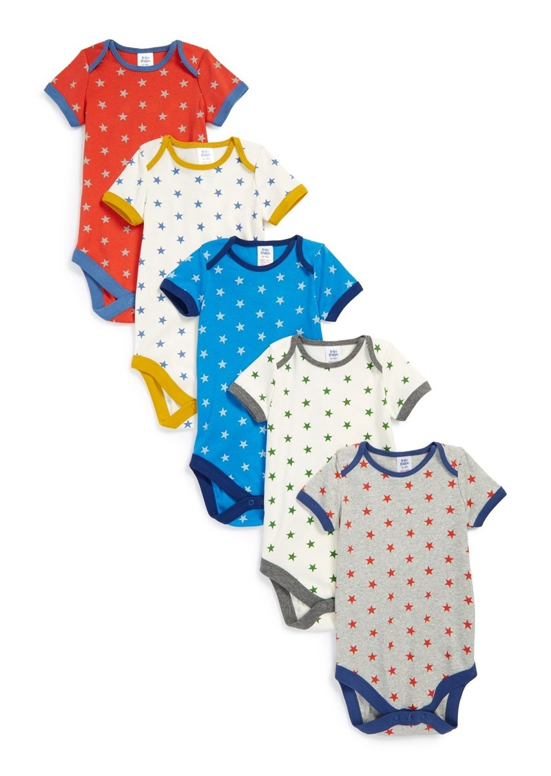Mini boden cotton short sleeve bodysuits set of 5 baby for Mini boden sale deutschland