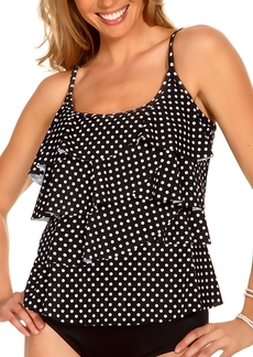 Miraclesuit + Dot Dot Tier Up Wire-Free Tankini Top