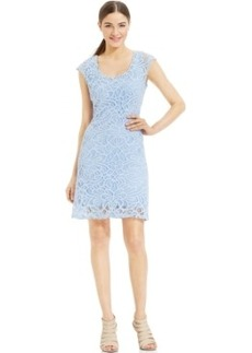 Miraclesuit Cap-Sleeve Lace Dress