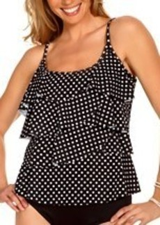 Miraclesuit Dot Dot Tier Up Wire-Free Tankini Top