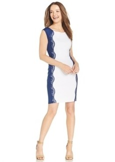 Miraclesuit Lace-Panel Sheath Dress