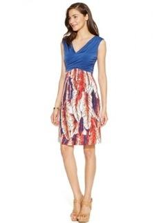 Miraclesuit Leaf-Print A-Line Dress