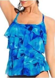 Miraclesuit Ocean Dream Tiering Up Wire-Free Tankini Top