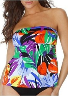 Miraclesuit Palm Springs Wire-Free Bandeau Tankini Top