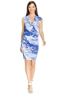 Miraclesuit Printed Ruched Sheath Dress