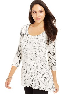 Miraclesuit Printed Scoop-Neck Top