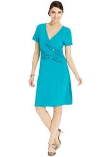 Miraclesuit Ruched-Panel Hardware Dress
