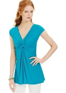 Miraclesuit Shaping Cap-Sleeve Draped Top