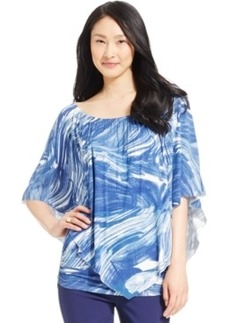 Miraclesuit Shaping Marble-Print Poncho Top