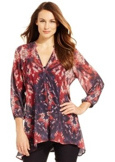 Miraclesuit Shaping Printed Chiffon Tunic Top