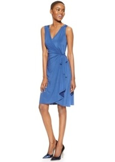 Miraclesuit Sleeveless Faux-Wrap Dress