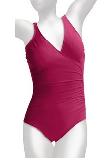 Miraclesuit Solid Shirred Wrap Swimsuit (For Women)