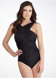 Miraclesuit Solids Criss-Cross Wire-Free Swimsuit