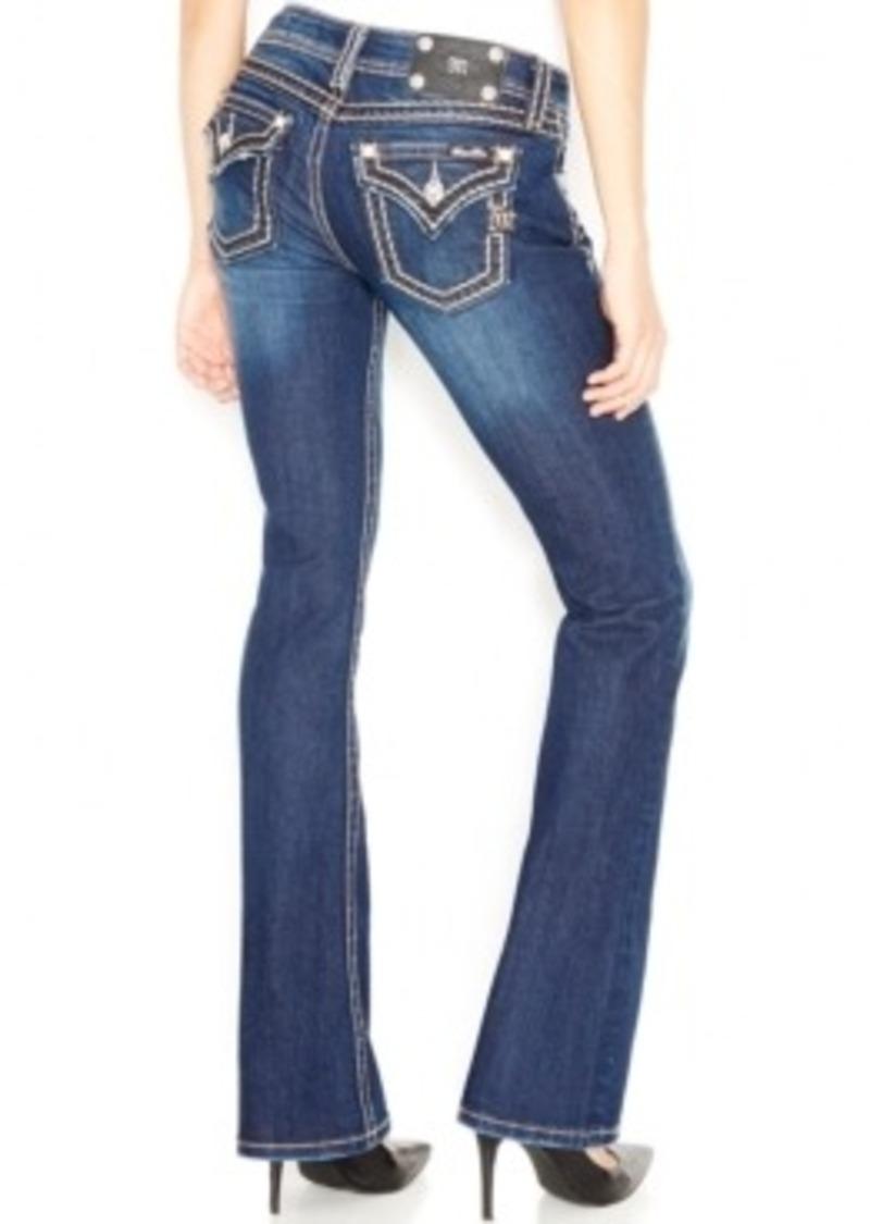 miss me miss me bootcut jeans dark blue wash denim. Black Bedroom Furniture Sets. Home Design Ideas