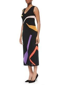 Abstract Intarsia-Knit Long Dress   Abstract Intarsia-Knit Long Dress