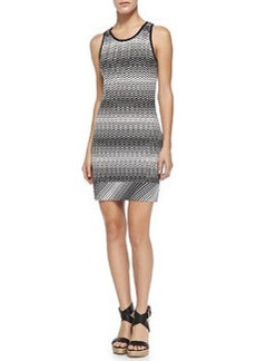 Copricost Zigzag Knit Fitted Dress   Copricost Zigzag Knit Fitted Dress