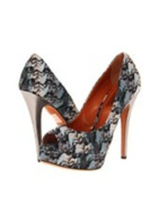 Missoni Abstract Flame Stitch Open Toe Platform Pump