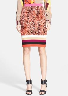 Missoni Animal Jacquard Knit Pencil Skirt